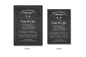 New Year 2016 Invitation Flyer-V155