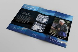 Trifold Funeral  Template-V314
