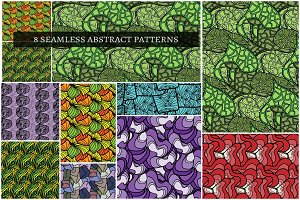 8 SEAMLESS ABSTRACT PATTERNS