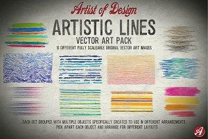 Vector Clip Art Artist Lines