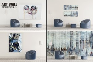 ART WALL MOCKUPS VOL.3