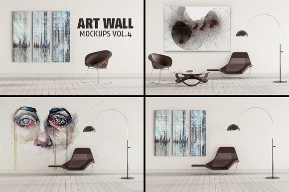 ART WALL MOCKUPS VOL.4 - Product Mockups
