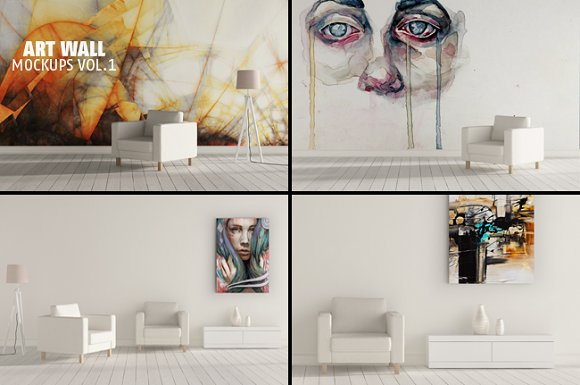 Download ART WALL MOCKUPS V1