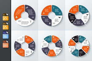 Infographics template set v.8