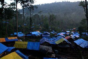 Mining camp in Aceh