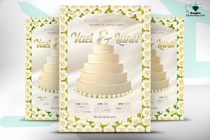 Wedding Flyer - Gold and Silver