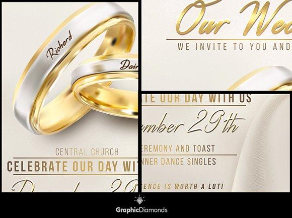 Wedding Flyer PSD Template Flyer Templates on Creative Market – Wedding Flyer
