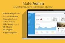 MaterAdmin - Material Bootstrap App