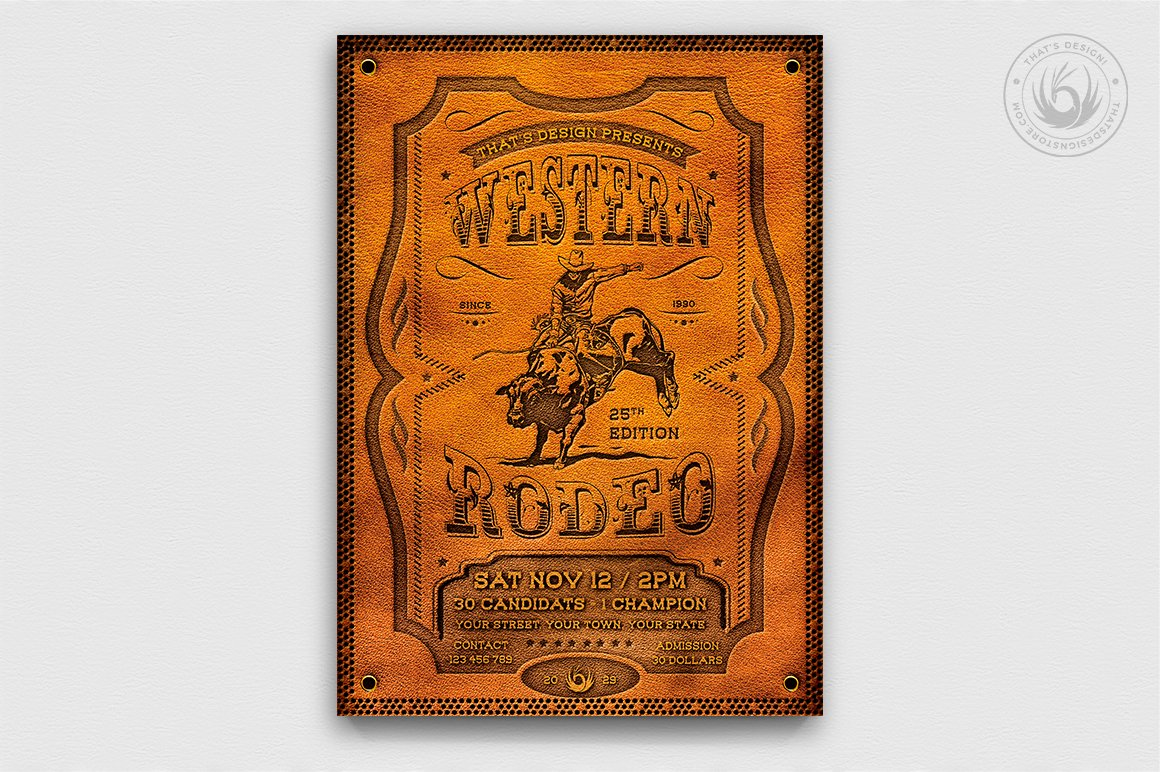 Rodeo Flyer Template Free from images.creativemarket.com