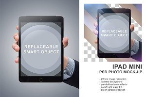 Ipad Mini in Hand PSD Mockup