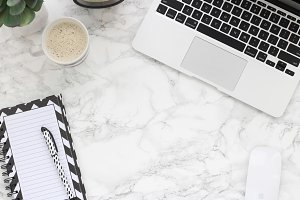 Black and White Marble Styled Stock