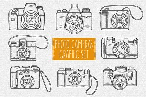 Photo Cameras Graphic Set
