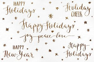 Holiday Calligraphy Overlays 1