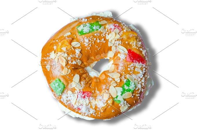 Roscon de reyes. King cake - Food & Drink