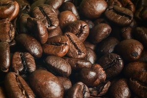 Macro of Coffee Beans for Background