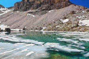 Dolomites - lake Pisciadu