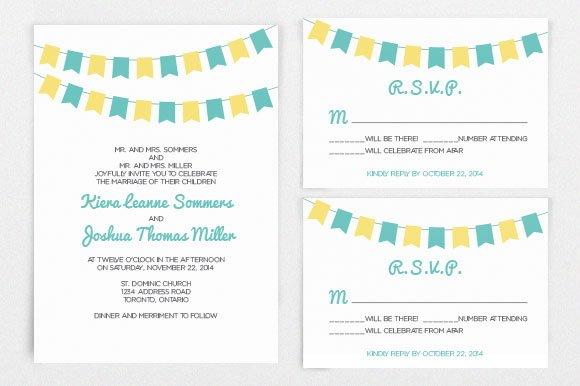 DIY Wedding Invitation Template ~ Invitation Templates ~ Creative Market
