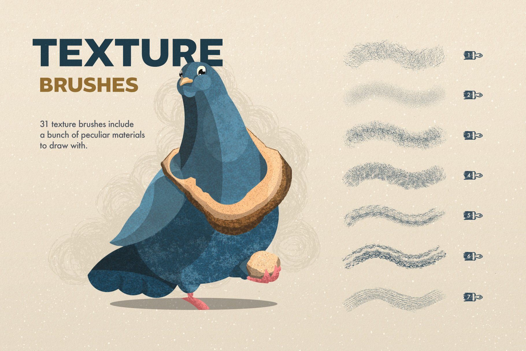 4 texture brushes 5