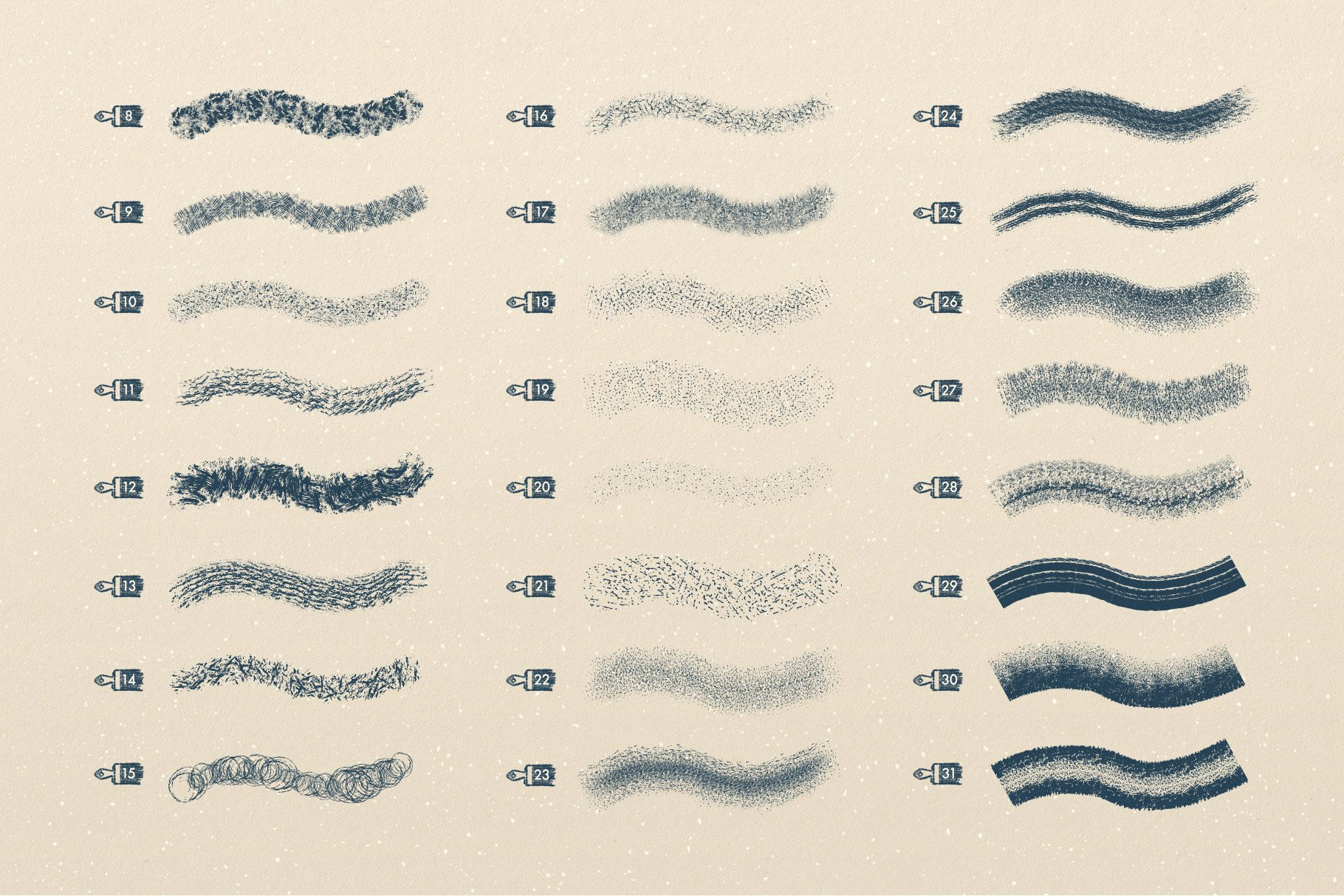 5 texture brushes 6