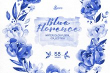Blue Florence. Floral Collection