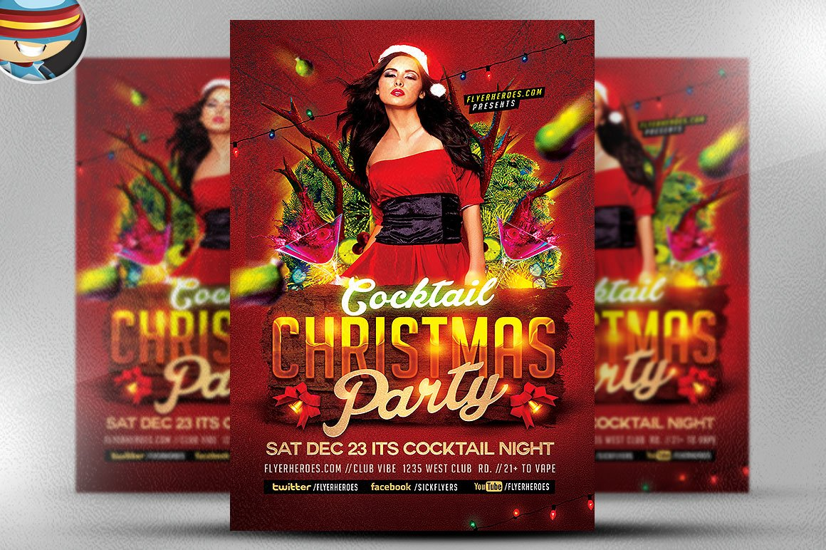Christmas Flyer Template 2 Flyer Templates on Creative Market – Mayhem Flyer Template