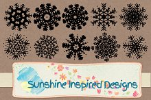 Snowflakes Shapes and Brushes No.2