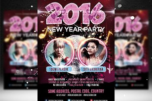 New Year Party Flyer Template 2