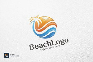 Beach / Sun - Logo Template