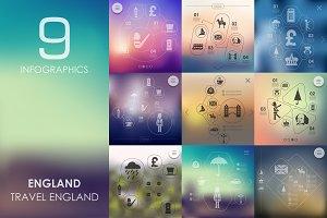 9 England infographics