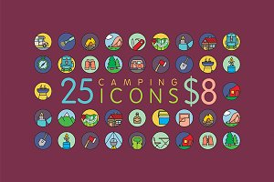 25 Amazing Camping Icons