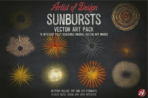 Vector Clip Art Sunbursts