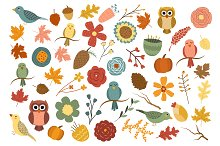 Fall Floral 53 pc Vector & PNG Pack