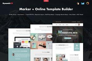 Marker + Online Template Builder