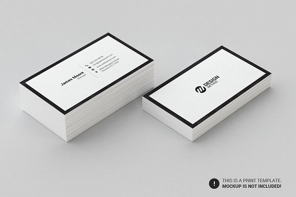 Minimal business card template business card templates creative minimal business card template business card templates creative market fbccfo Gallery