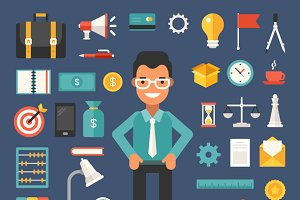 Business Flat Illustrations