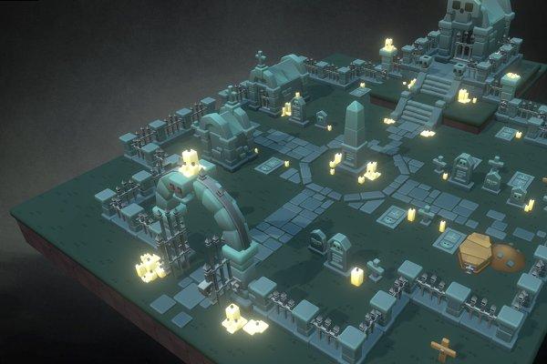 3D Environment: Bitgem - Proto Cemetery Set