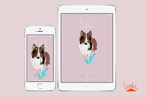Original Dog Wallpaper (Shelti)