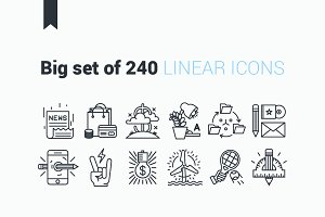 Linear Icons.