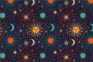 "Pattern ""Sun and stars"""