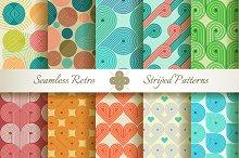 20 Retro Striped Seamless Patterns