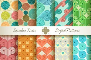 20 Retro Striped Seamless Patterns