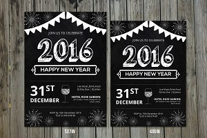 New Year Party Invitation Flyer-V157