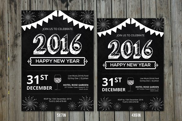 New Year Party Invitation FlyerV157 Flyer Templates Creative – Party Invitation Flyer