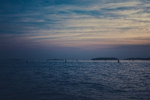 Blue sunset in Venice