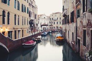Melanholic Venice canal