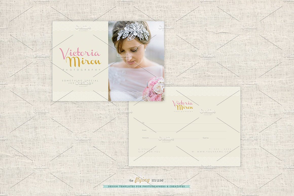 Wedding Photographer Gift Card Card Templates Creative Market