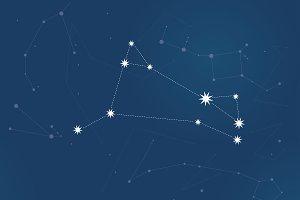 Aries vector Zodiac sign bright star