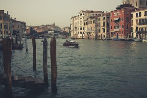 The Grand canal in vintage colors