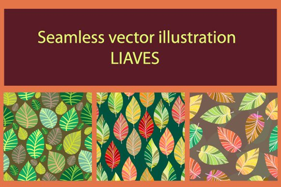 Background of leaves. Seamless. - Illustrations