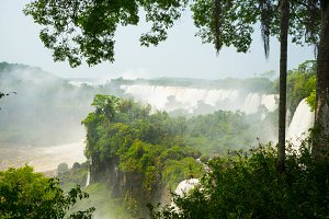 iguazu waterfalls in argentina.